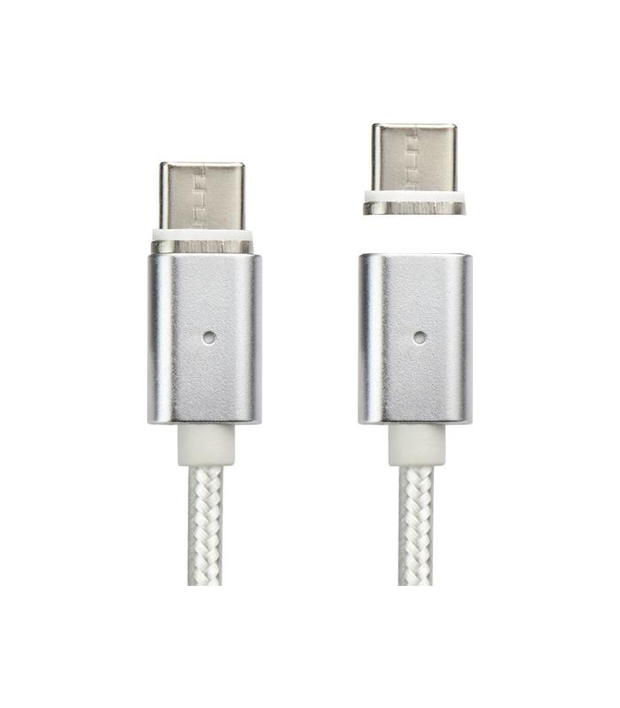 OEM Μαγνητικό Καλώδιο USB 2.0 σε Type-C / Ασημί 1m