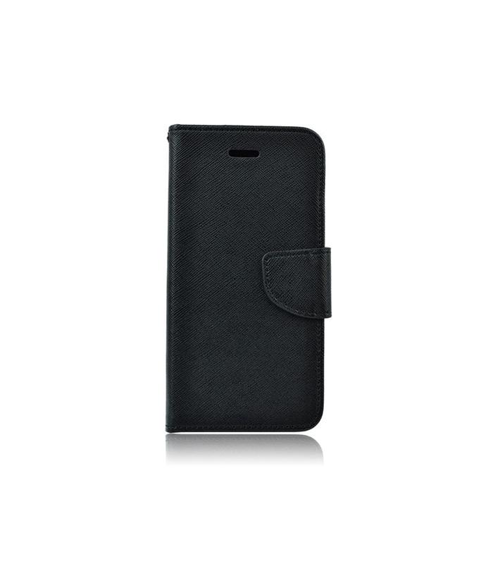 Θήκη Flip με υποδοχή καρτών και δυνατότητα STAND Για Samsung A20e – Μαύρο