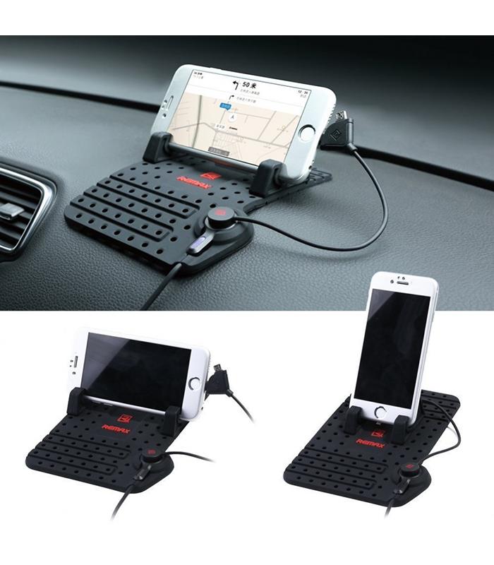 Βάση Στήριξης Αυτοκινήτου για Smartphone – Remax (Μαύρο)