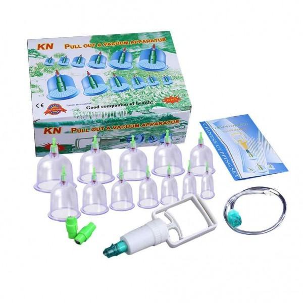 Θεραπευτική Συσκευή με Βεντούζες 12 Τεμαχίων – Pull Out A Vacuum Apparatus