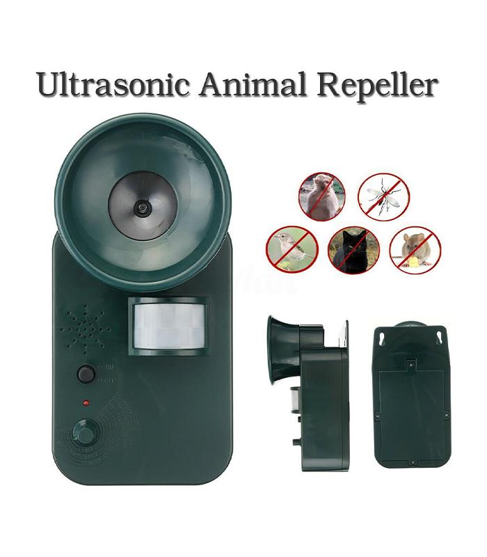 Απωθητικό Υπερήχων Εξωτερικού Χώρου Για Τρωκτικά, Σκυλιά, Γάτες – Ultrasonic Cordless Repeller