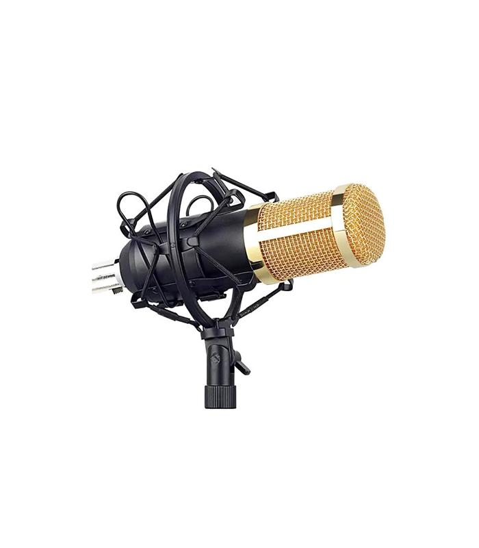 Professional Recording Microphone Soundcard Set  Pop Filter and Swivel Mount – Σετ Μικρόφωνο και Κάρτα Ηχου (Andowl MIC8)