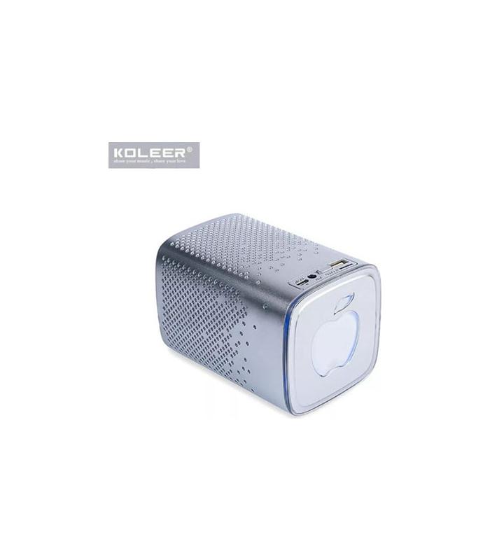Koleer S818 Ηχείο Bluetooth 10W με Ραδιόφωνο και 6 ώρες Λειτουργίας Silver
