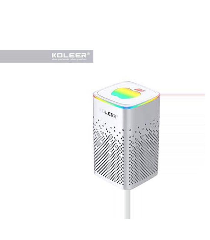 Koleer S818 Ηχείο Bluetooth 10W με Ραδιόφωνο και 6 ώρες Λειτουργίας White