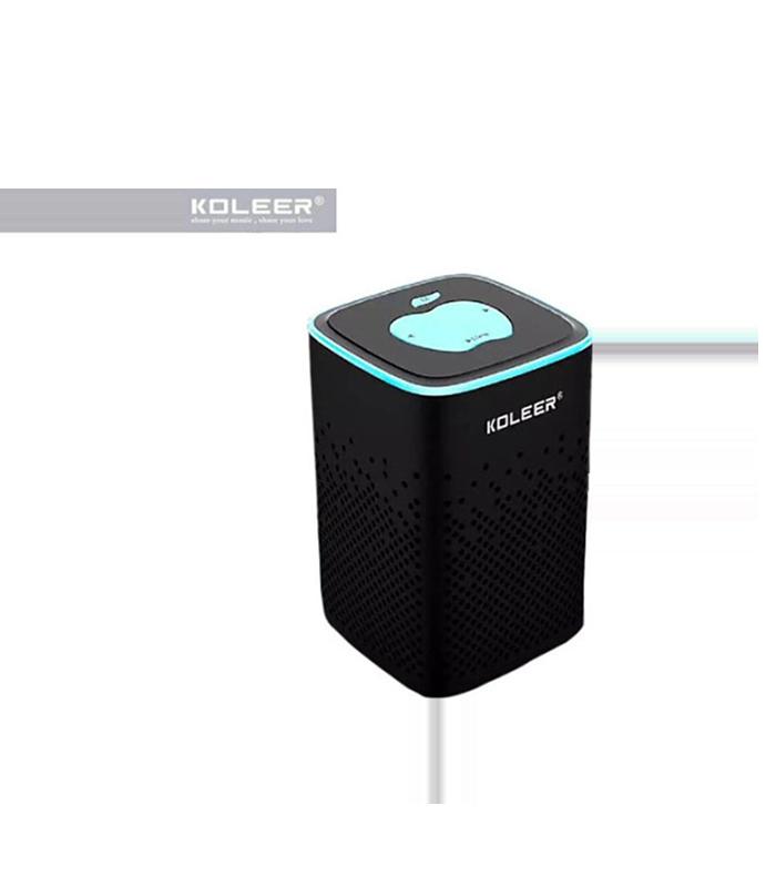 Koleer S818 Ηχείο Bluetooth 10W με Ραδιόφωνο και 6 ώρες Λειτουργίας Black