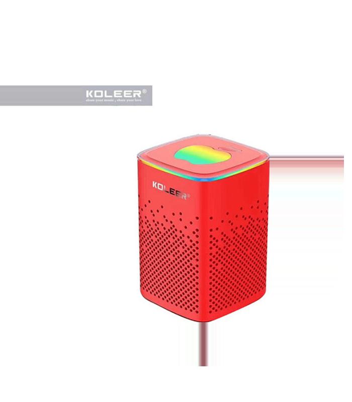 Koleer S818 Ηχείο Bluetooth 10W με Ραδιόφωνο και 6 ώρες Λειτουργίας Red