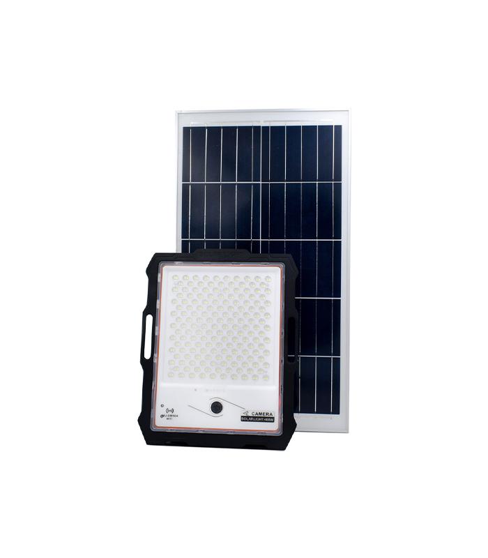 Ηλιακός Προβολέας LED 400W IP67 με Κάμερα 1080P, Τηλεχειρισμό & Αισθητήρα Κίνησης OEM MJ-DW904 – Μαύρο
